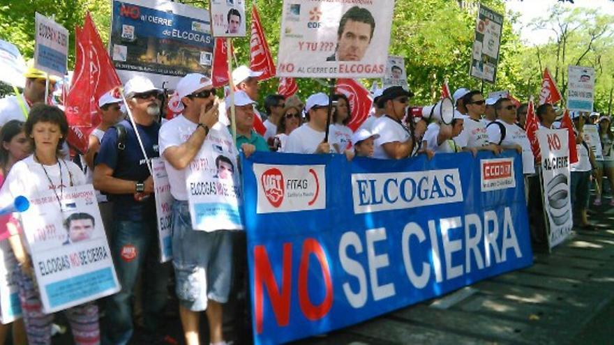 Protesta de trabajadores de Elcogas / Foto: El Crisol de Ciudad Real