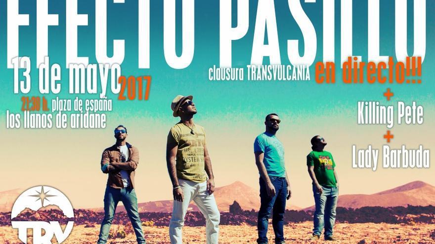 Cartel del broche musical a la 'Transvulcania Naviera Armas 2017'.