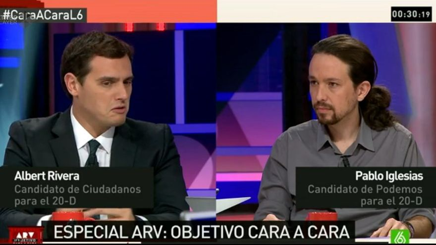 Alberto Rivera y Pablo Iglesias