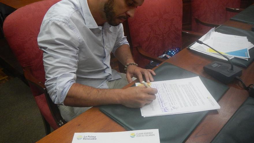 Javier Peña, concejal de Servicios Públicos del Ayuntamiento de Tijarafe.