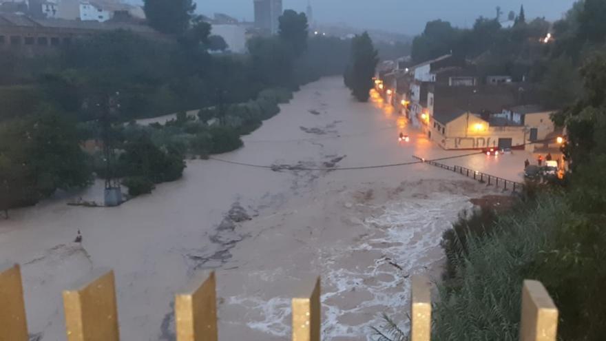 Desbordamiento del río Clariano en Ontinyent.