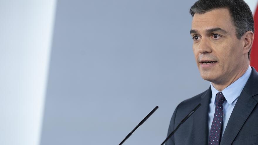 Pedro Sánchez comparece en Moncloa.