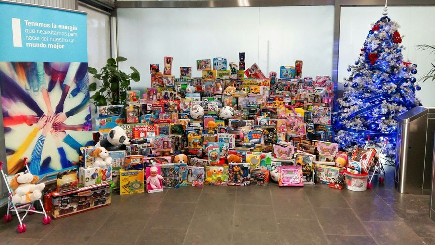 En la imagen, juguetes donados por los trabajadores de Endesa.