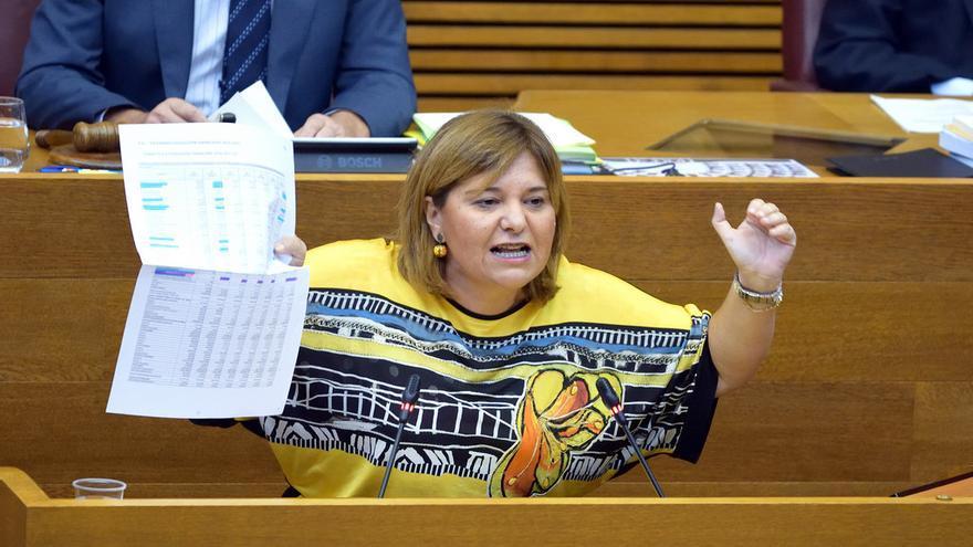 Isabel Bonig durante la sesión de control al President