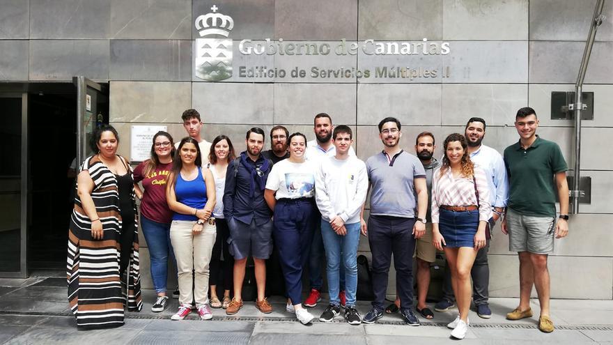 Imagen de los miembros del Consejo de la Juventud de Canarias.