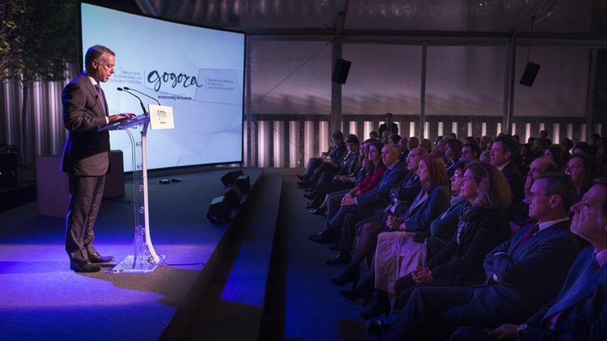 Intervención del lehendakari durante la inauguración del Instituto Vasco de la Memoria.