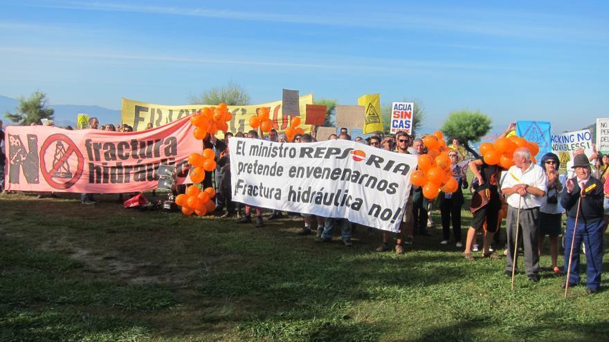 Manifestación en Soria contra el fracking.
