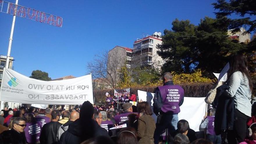 Manifestación en Guadalajara contra el trasvase Tajo-Segura. Foto: Twitter (@chulopirulo)