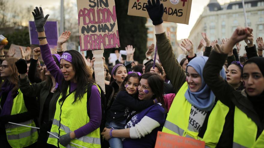 Manifestación del 8M 2019 en Madrid.