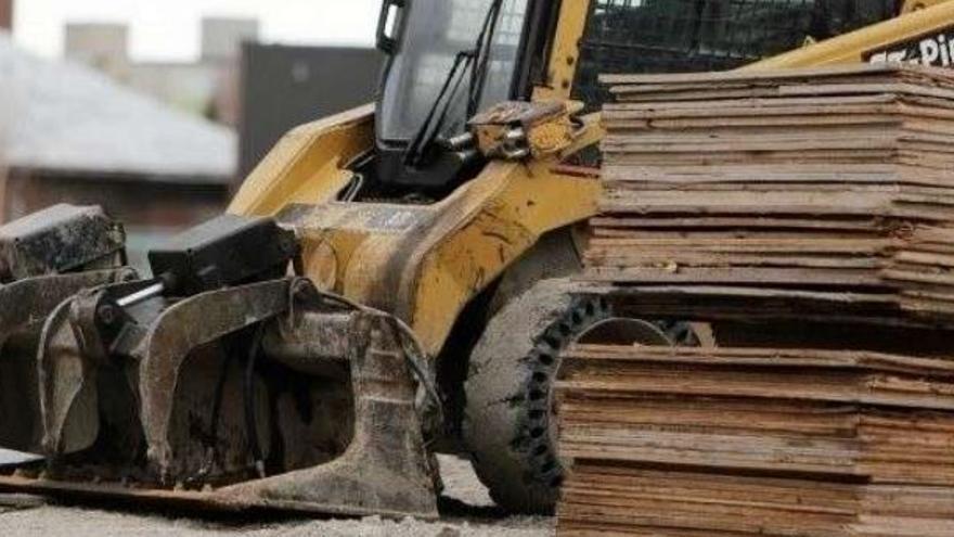 Obras de construcción con madera