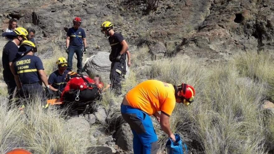 Un senderista muere de una caída en Mogán, donde otra resulta herida