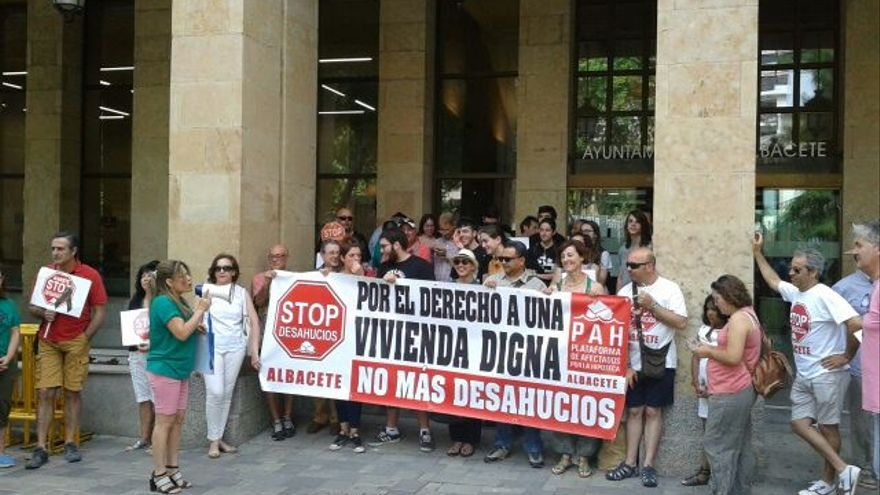 Encierro en el Ayuntamiento de Albacete
