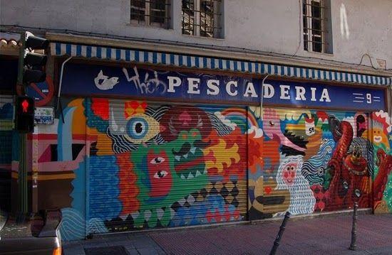 Arte urbano en los cierres de la calle | ESCRITOENLAPARED.BLOGSPOT.COM