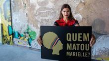 Acto buscando justicia para el asesinato de Marielle Franco.