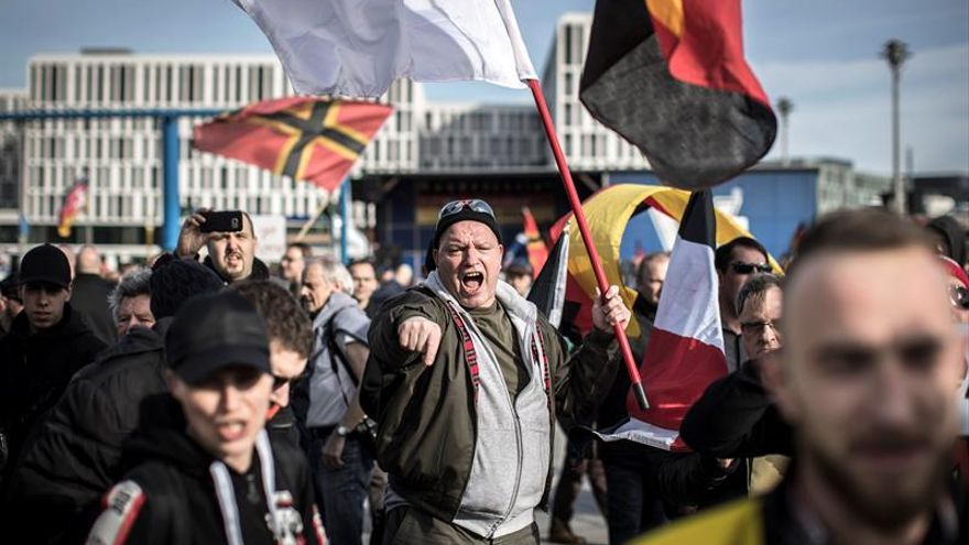Imagen de archivo de una concentración de neonazis en Suecia