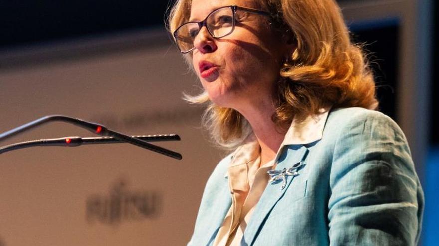 La vicepresidenta de Asuntos Económicos y Transición Digital, Nadia Calviño.