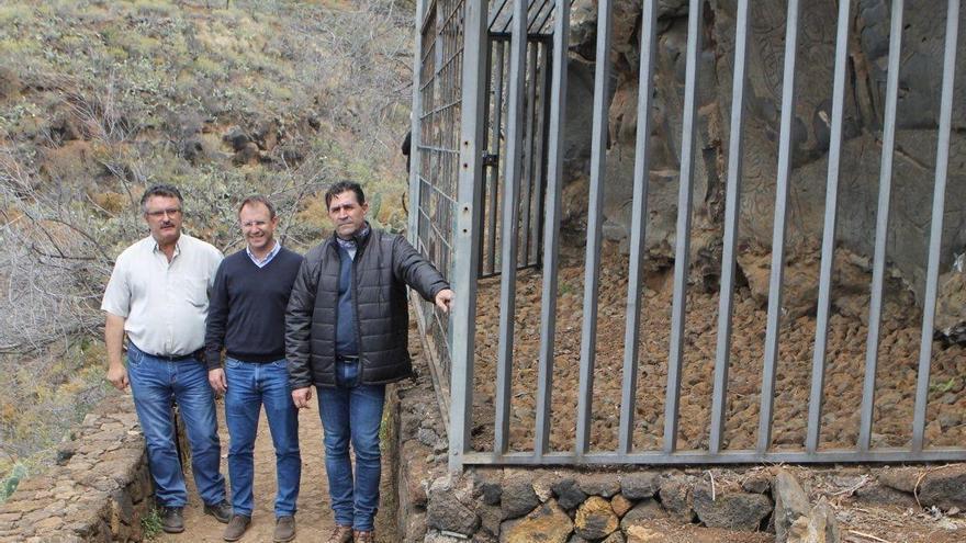 De izquierda a derecha: Primitivo Jerónimo, Sergio Rodríguez y Miguel Ángel Clavijo.