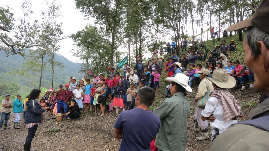 La comunidad de Río Blanco bloqueó durante 21 meses el acceso a la empresa constructora de la presa de Agua Zarca / © Goldman Environmental Prize