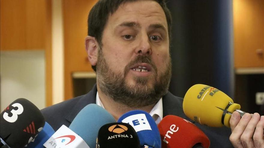 Junqueras dice que el 90 por ciento de los empresarios catalanes apoyan la consulta