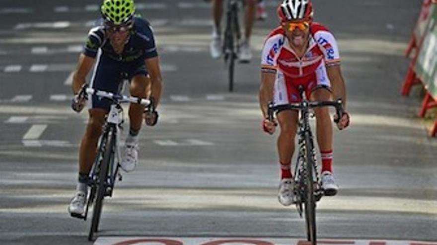 Valverde y Purito en la llegada a Arrate. (Europa Press)