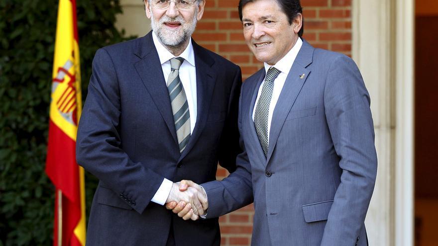 Rajoy y Javier Fernández concluyen su entrevista tras dos horas de reunión