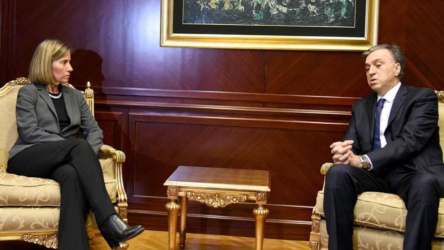 Mogherini pide diálogo a Montenegro para superar la crisis política