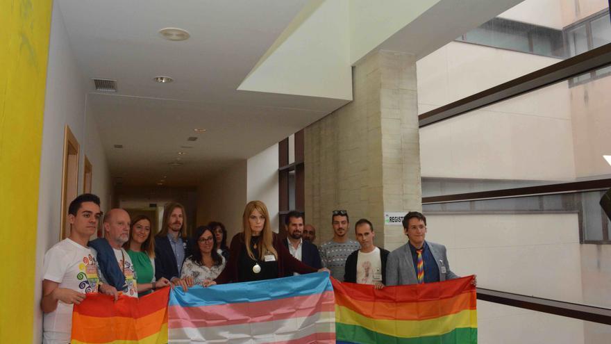 Los colectivos LGTBI y grupos políticos tras registrar la PL.
