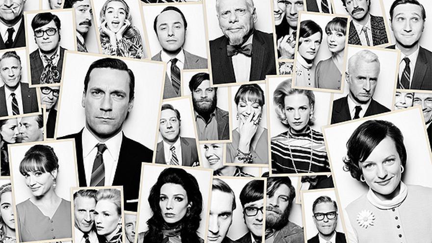 Los protagonistas de 'Mad Men'