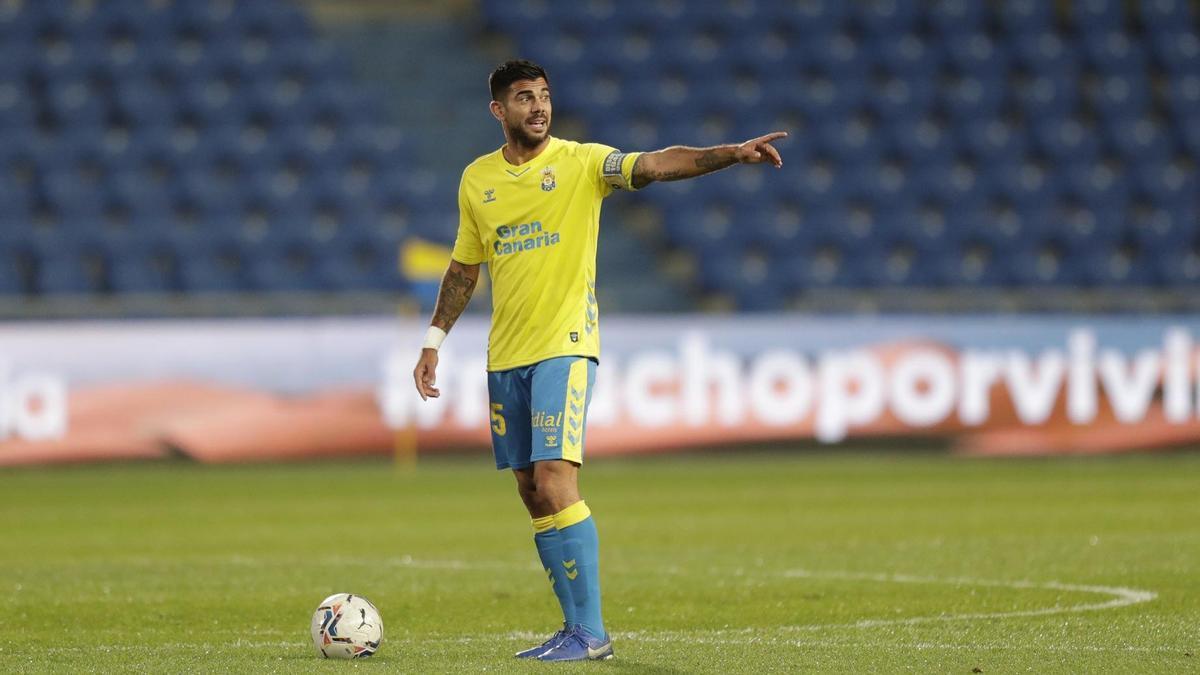 Aythami durante un partido en el Estadio de Gran Canaria