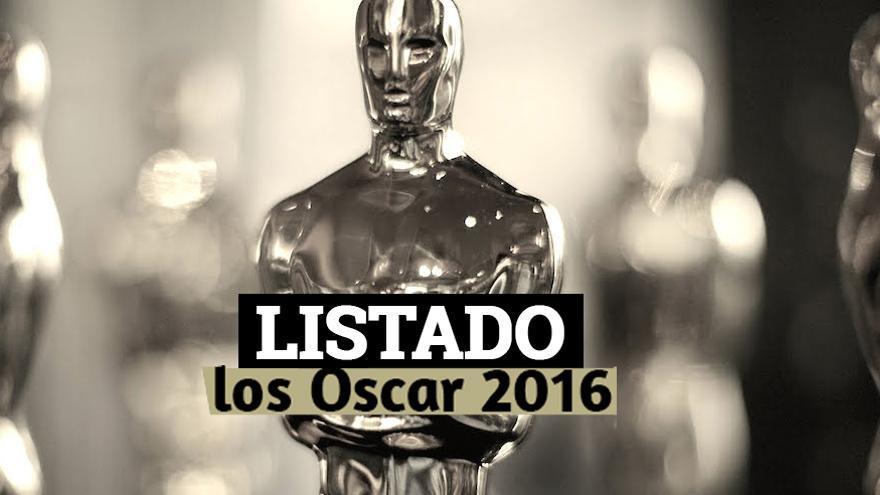 Listado: Ganadores de los Oscar 2016