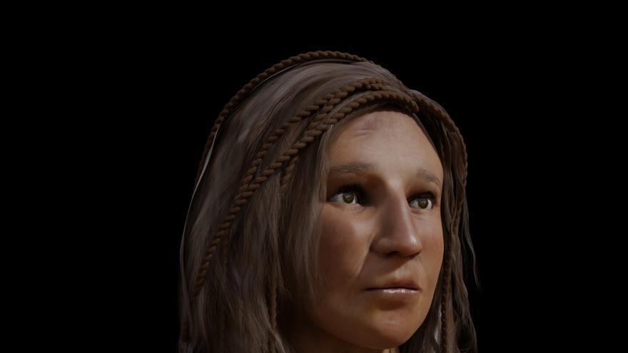 Cara a cara con el pasado. Este es el resultado de los trabajos de reconstrucción facial aplicados a un cráneo de más de 1.500 años custodiado por el Museo Canario de Las Palmas de Gran Canaria.