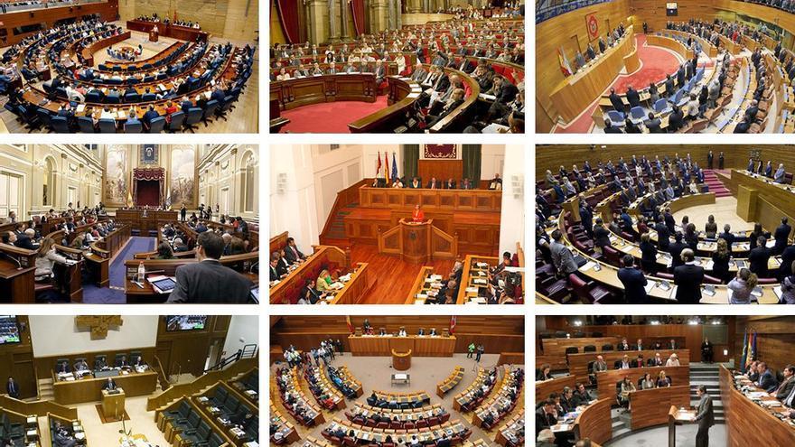 Imágenes de distintos parlamentos autonómicos (Canarias Ahora)