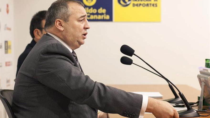 El presidente de la Unión Deportiva Las Palmas, Miguel Ángel Ramírez. (Efe/Ángel Medina G.).