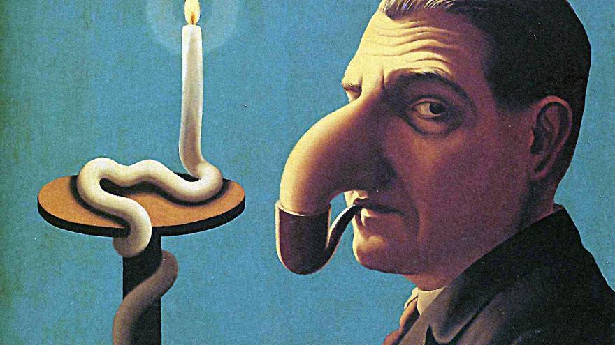 La lámpara del filósofo - René Magritte 1936 - El llum del filòsof - René magritte 1936