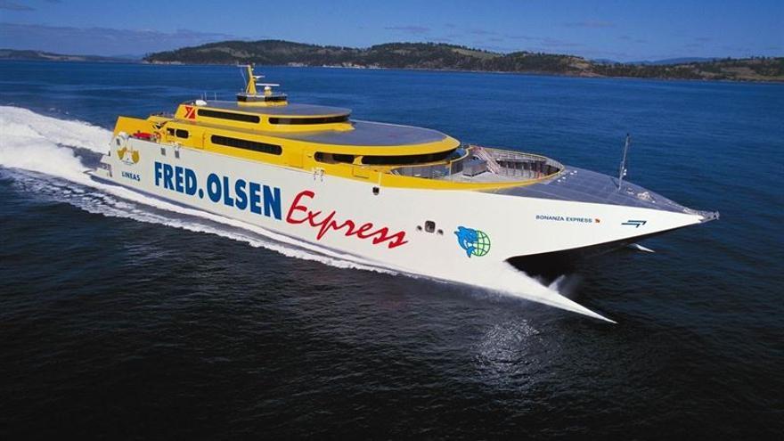 Barco perteneciente a la compañía Fred Olsen que opera en Canarias. (Fotografía cedida por la compañía a Europa Press).