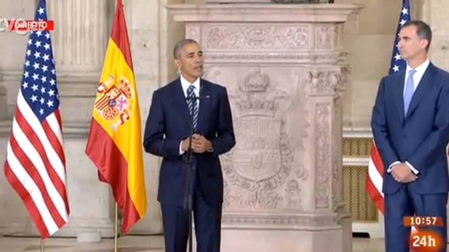 Barack Obama y el rey Felipe.