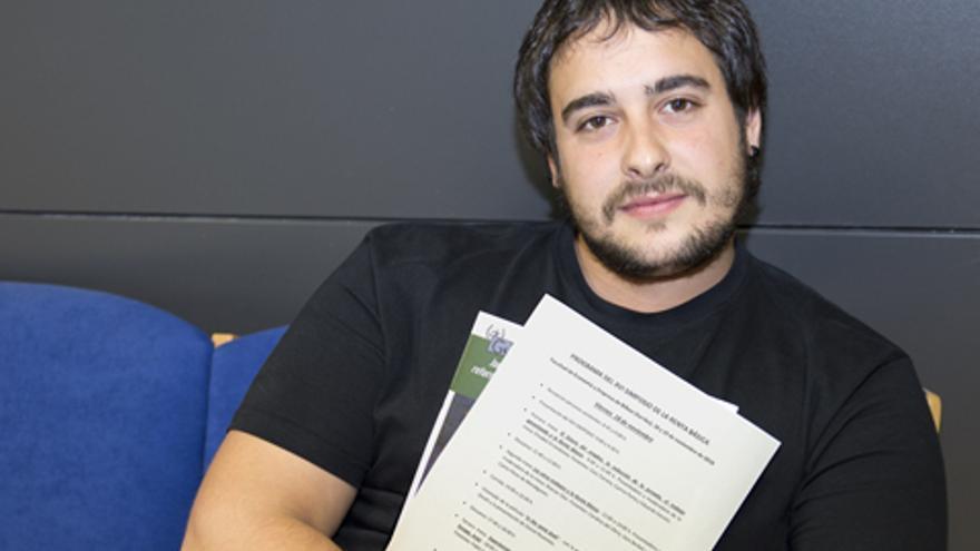 El investigador Julen Bollain. Foto: UPV