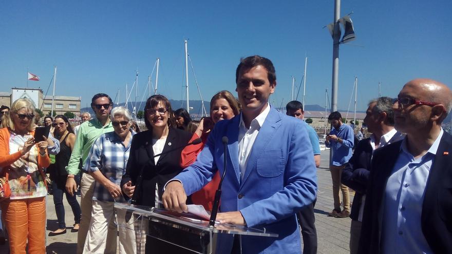 """Rivera pide """"respeto"""" a quien no comparte la propuesta de listas en Galicia y ofrece su apoyo a los candidatos"""