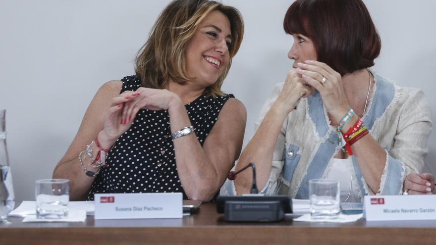 """Susana Díaz, tras su reunión con Sánchez: """"Estoy contenta y sé que vamos a hacer un magnífico trabajo los dos"""""""