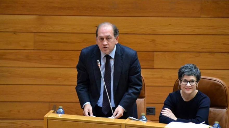 Xoaquín Fernández Leiceaga, portavoz del PSdeG