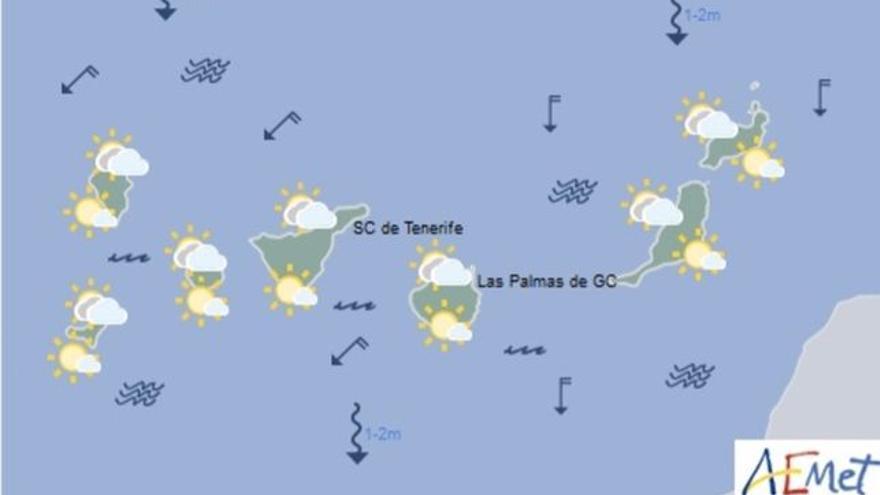 Mapa con la previsión meteorológica para este miércoles, 12 de julio de 2017