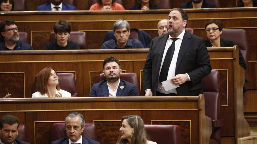 Oriol Junqueras en la sesión de constitución del Congreso de los Diputados.