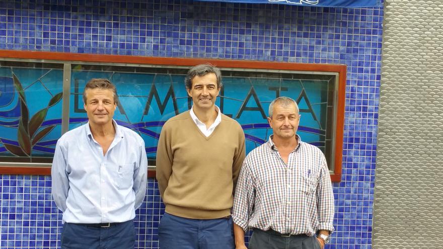 Paco, Pablo y Lito Bezanilla regentan el restaurante La Mulata