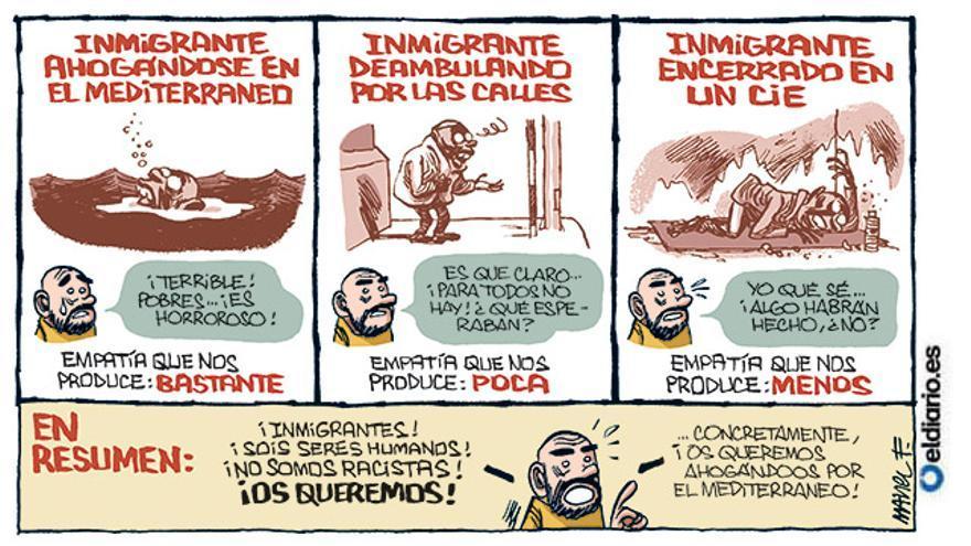 Inmigrantes, os queremos