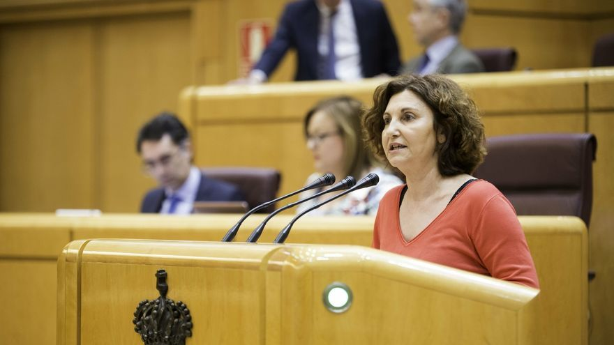 """Pilar Garrido (Unidas Podemos) dice a Sánchez que """"hay tiempo"""" para hablar y siguen con la """"mano tendida"""""""