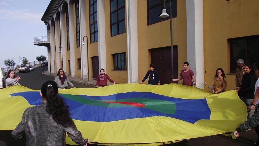 En la imagen, jóvenes del Punto de Información Juvenil de San Andrés y Sauces.