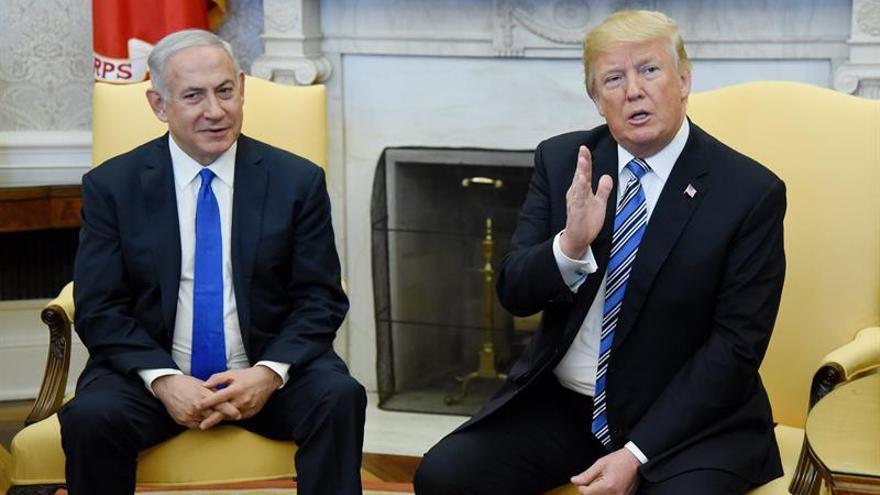 El primer ministro de Israel Benjamin Netanyahu y el presidente de Estados Unidos Donald Trump en una reunión en 2018.