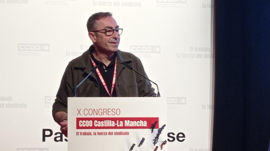"""Paco de la Rosa, reelegido secretario general de CCOO Castilla-La Mancha con el afán de aportar """"soluciones colectivas"""" a los problemas de la clase trabajadora"""