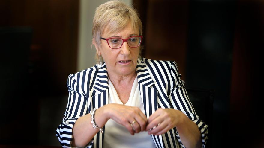 La consellera Barceló durante la entrevista