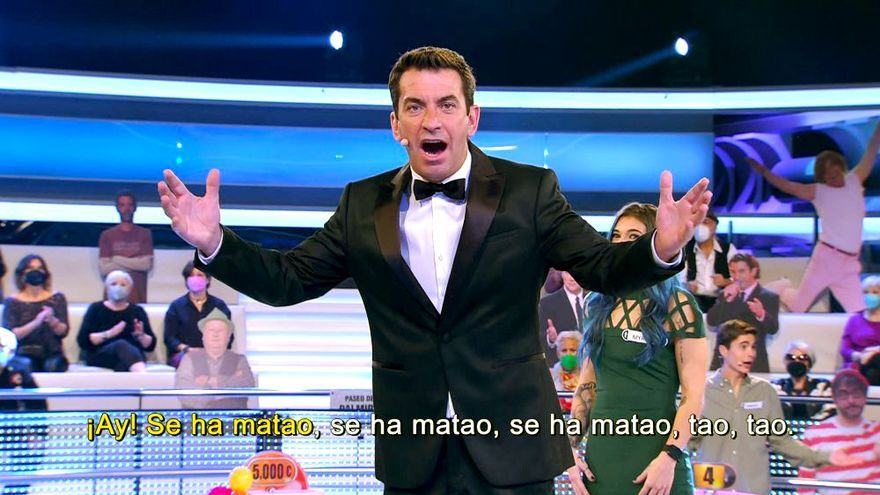 Arturo Valls en el especial musical de 'Ahora caigo'